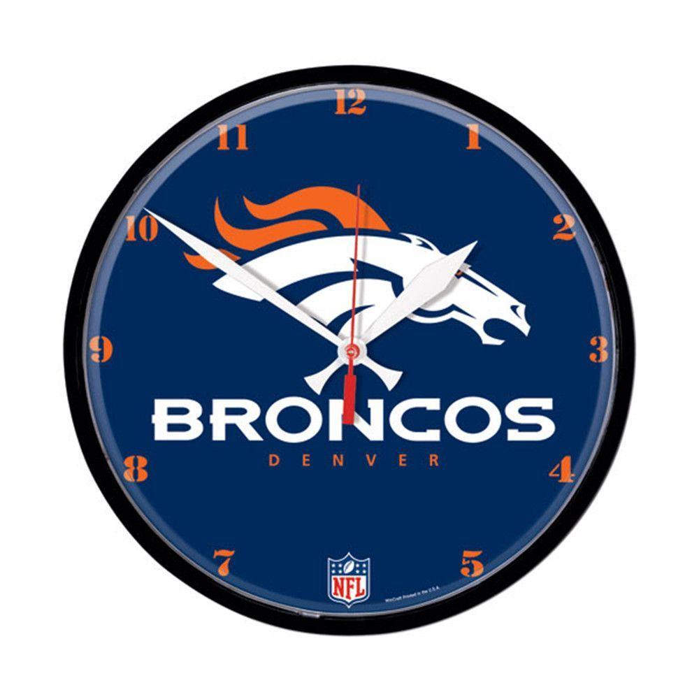 Denver Broncos Round Wall Clock
