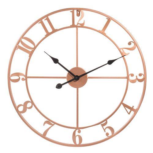 horloge en m tal cuivr d 60 cm copper maison pinterest horloge deco chambre et maisons. Black Bedroom Furniture Sets. Home Design Ideas