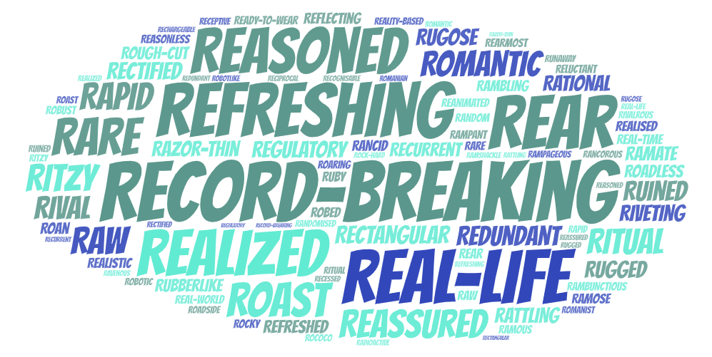 600+ Adjectives Beginning with R a List with Definitions