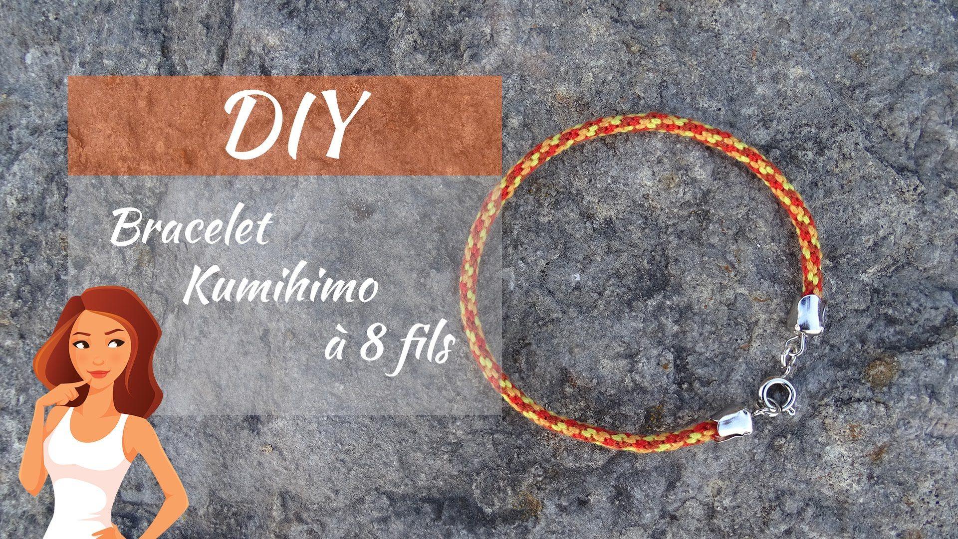 apprenez les bases du tressage kumihimo avec ce tuto expliquant comment faire un bracelet