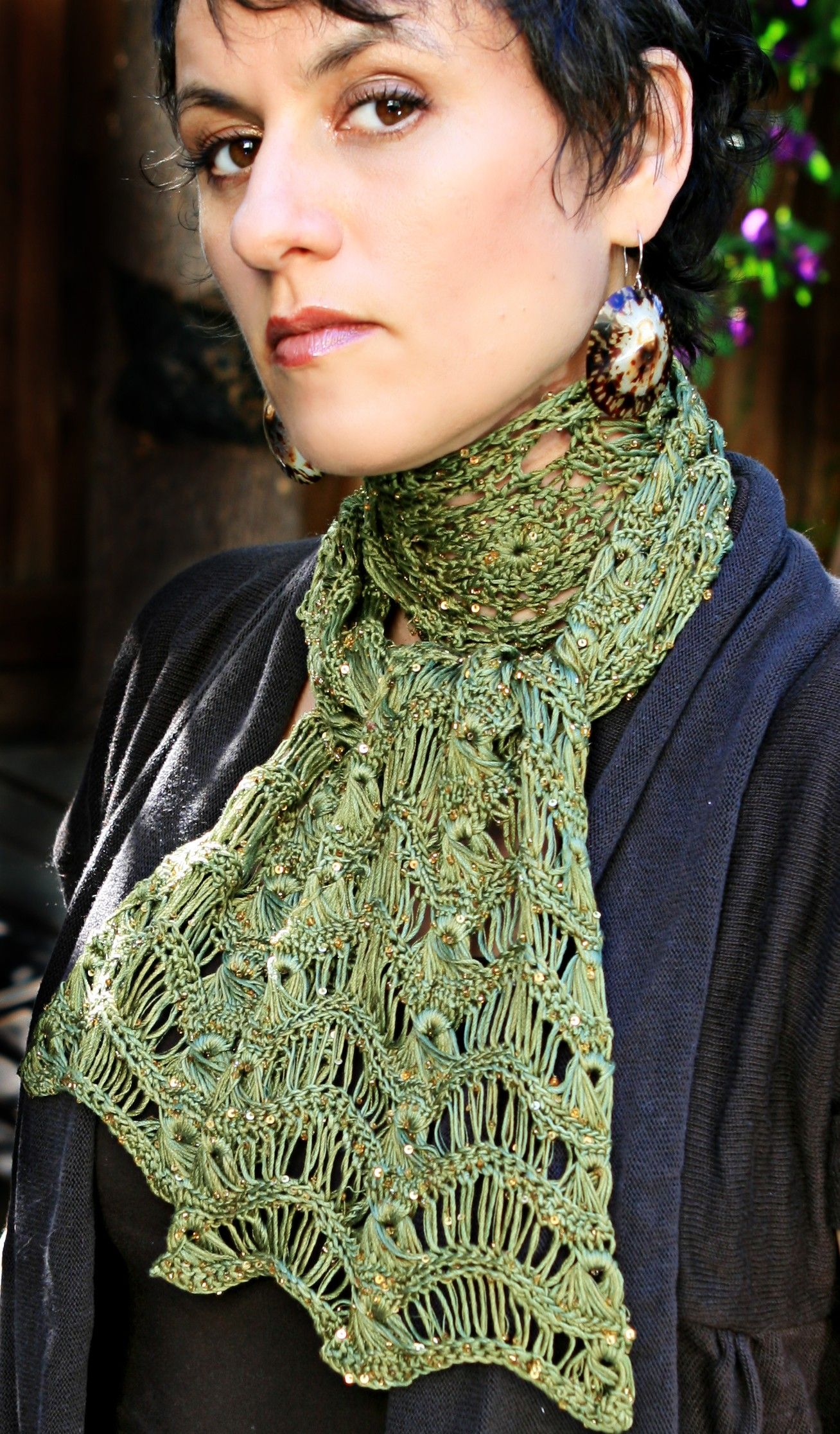 Crochet, Broomstick Lace Pattern - Crochet Lace Scarves | Recipes to ...