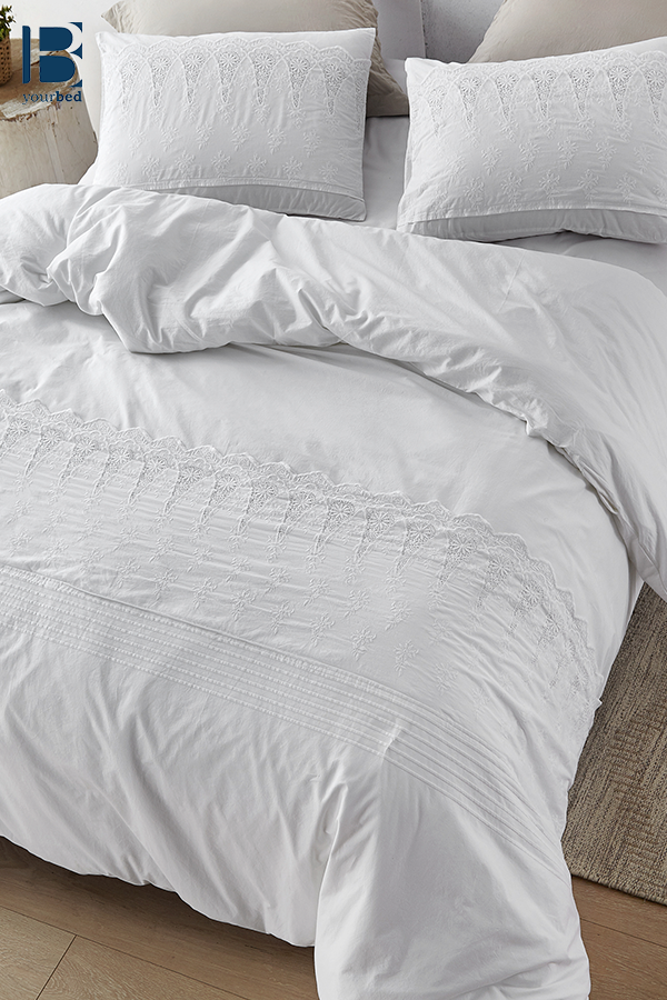 Luxurious White Lace Twin Xl Duvet Cover To Fit Twin Or Twin Xl Bedding With Soft Cotton Material Duvet Covers Twin Xl Bedding Large Duvet Covers