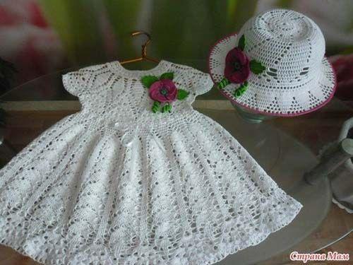 Esquema para tejer vestidos para niñas a crochet05 | Niñas ...