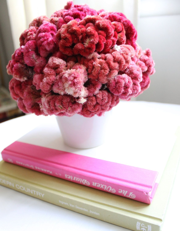 Coxcomb Celosia Floral Arrangement via Etsy Flower Power