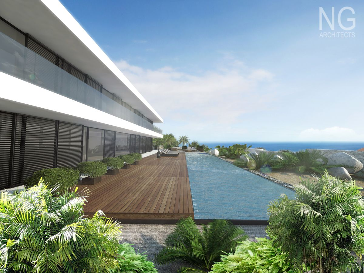 modern 350 m2 beachfront villa in Spain designed by NG architects ...