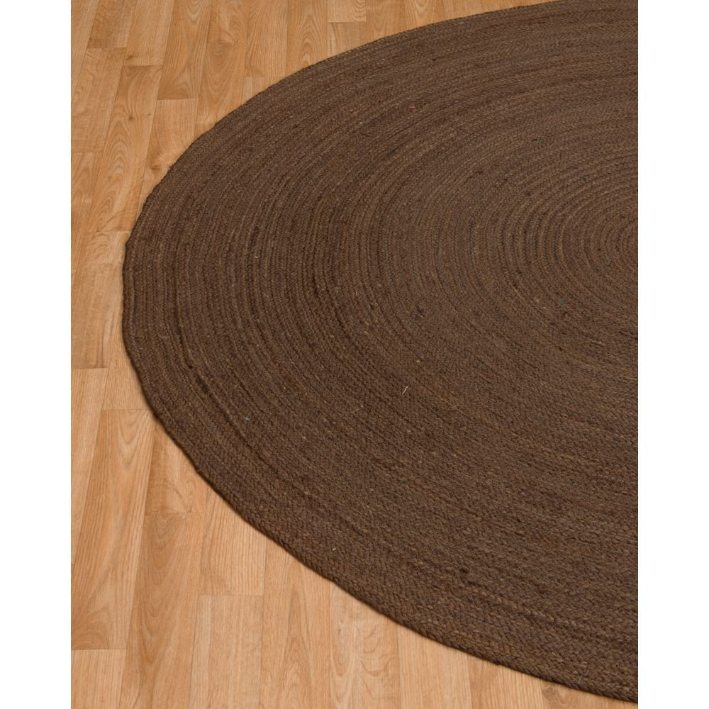 Natural Area Rugs Brooklyn Jute Round Rug 8 X With Bonus Pad Brown Size