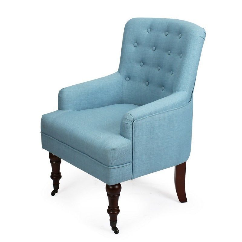 Best Furnistars Blue European Style Tufted Accent Chairs 640 x 480