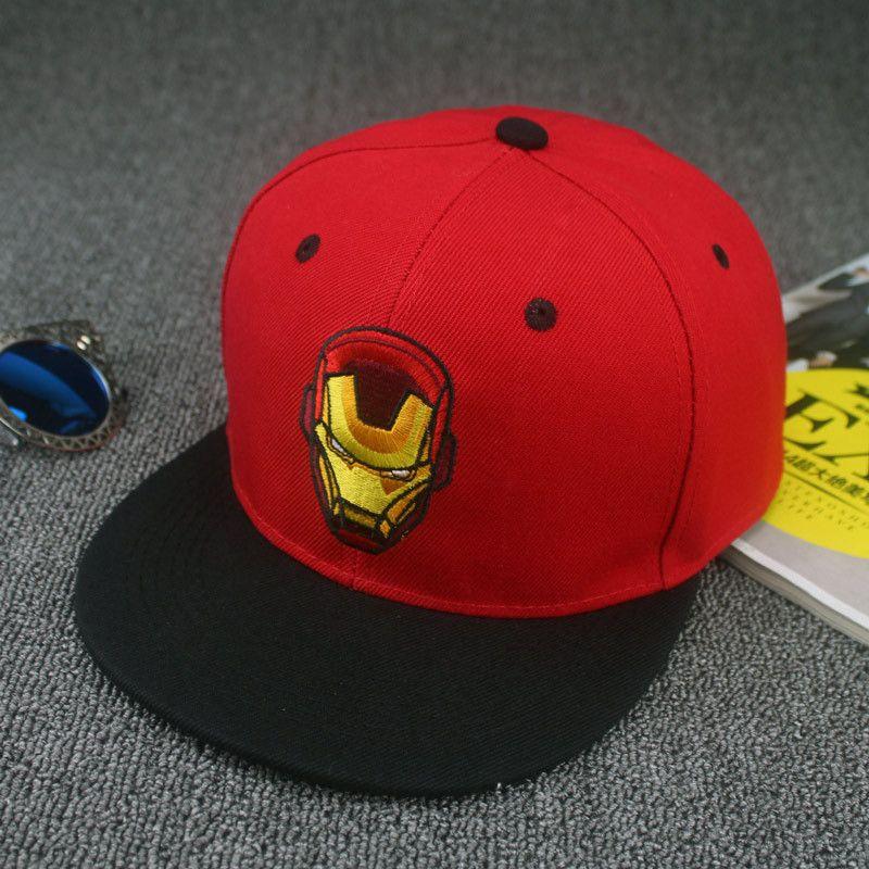 Iron Man baseball cap high quality Unisex hip-hop gorras Snapback hat  superhero Bone Chapeau flat brimmed hat skateboard cap 901aaa3fdecc