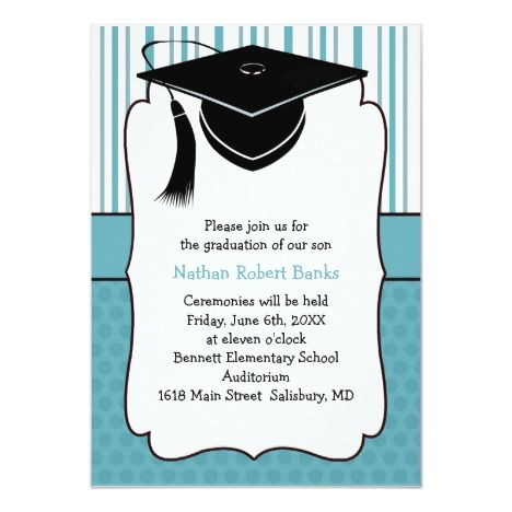 Kids Graduation Announcements For A Boy Zazzle Com