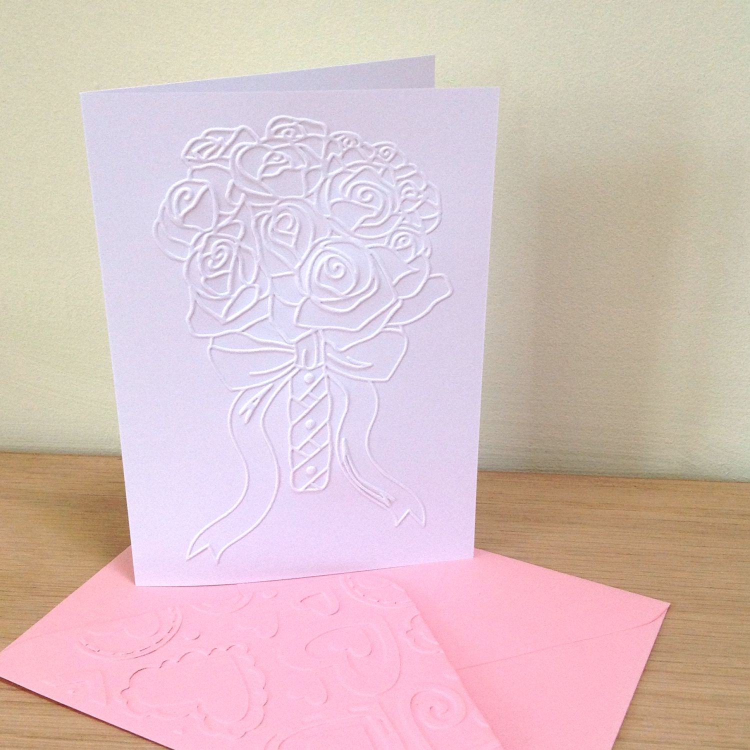 ROSE BOUQUET Set of 6 Embossed