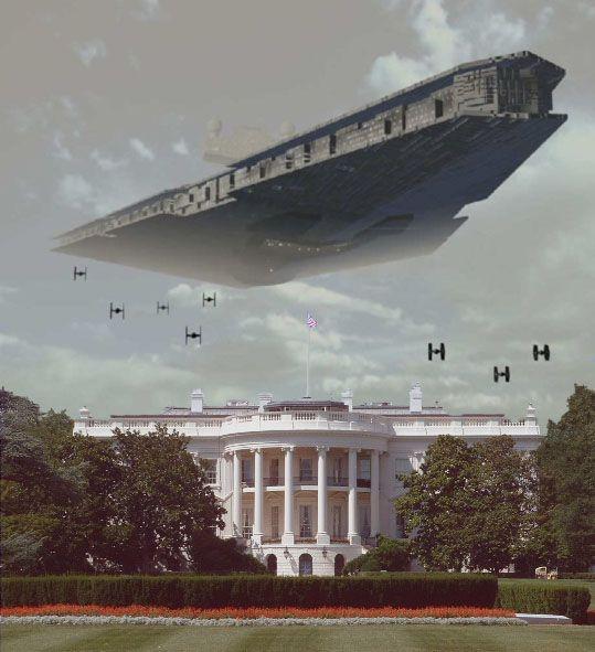 Star Destroyer Over White House Star Wars Ships Star Wars