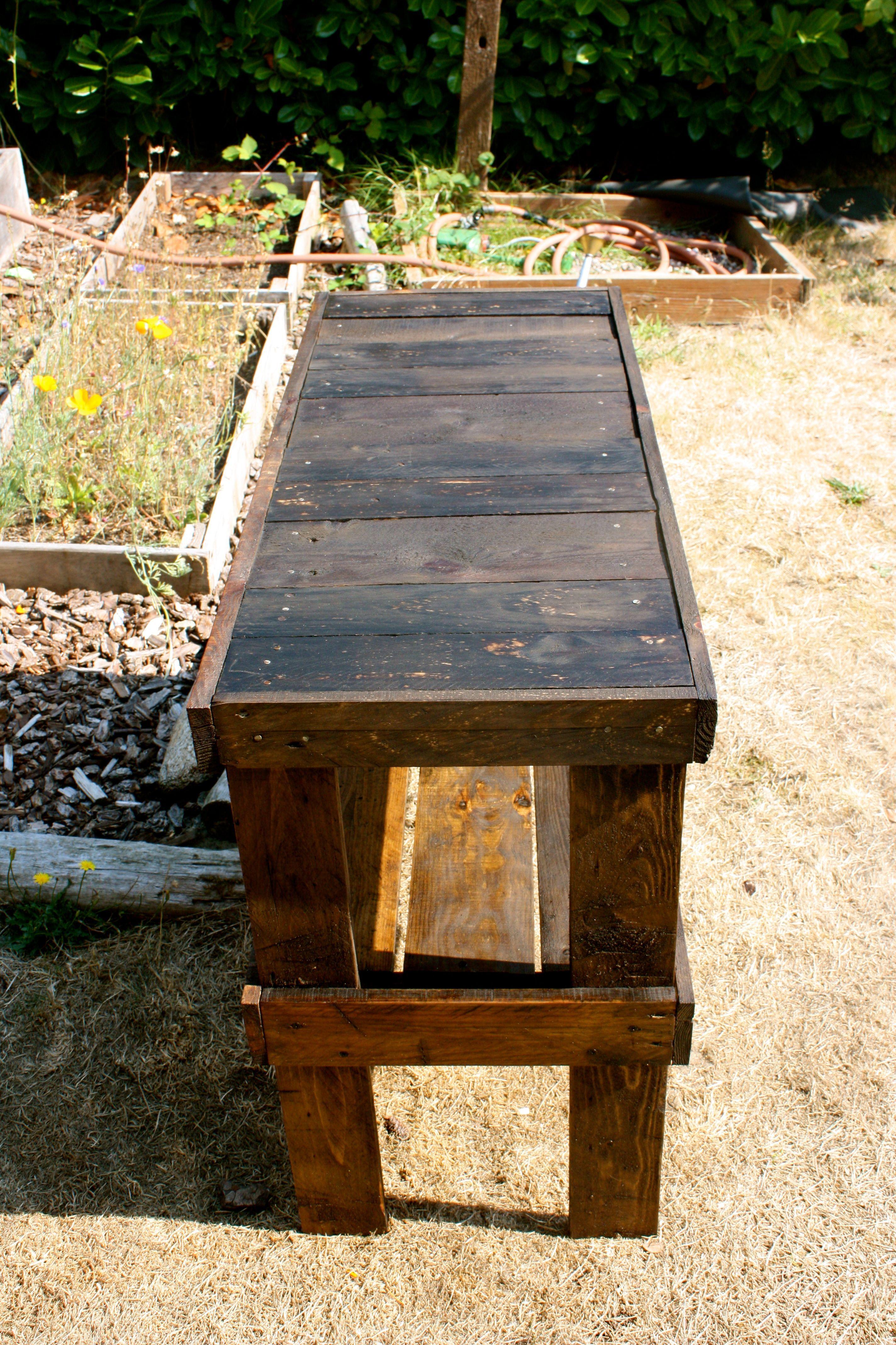 Pallet Table - folding table | Pallette furniture, Wood ...