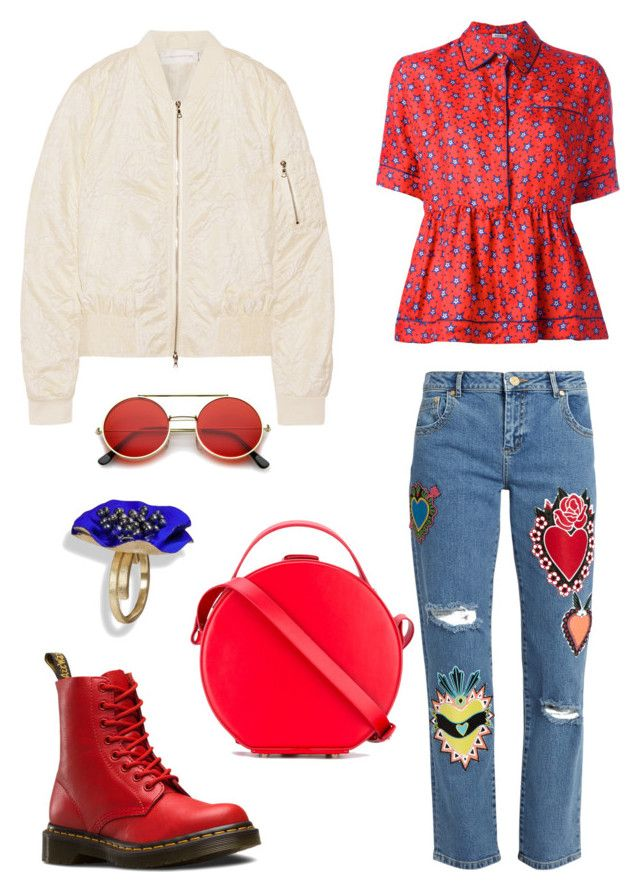 """""""Untitled #696"""" by rubysparks90 on Polyvore featuring House of Holland, P.A.R.O.S.H., Victoria, Victoria Beckham, Dr. Martens, ZeroUV and Nico Giani"""