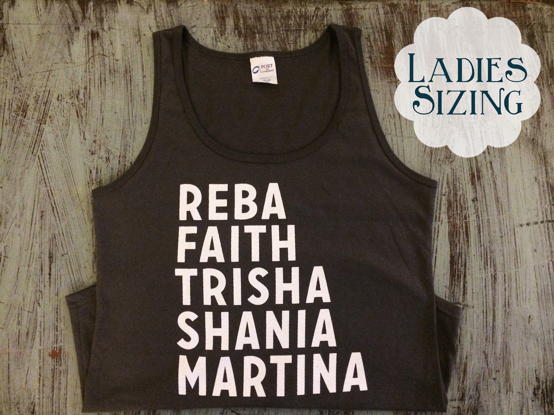 90 S Country Queens Tank Top Reba Faith Trisha Shania