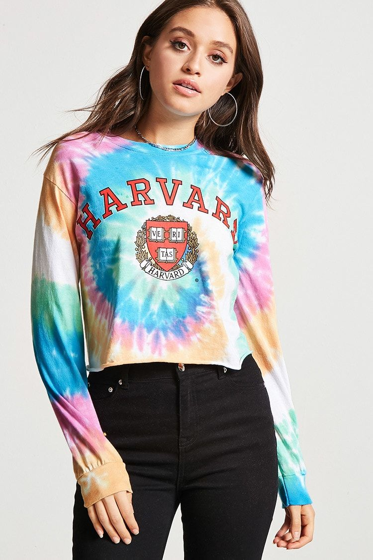 7105c4eaefad81 Harvard Tie-Dye Top