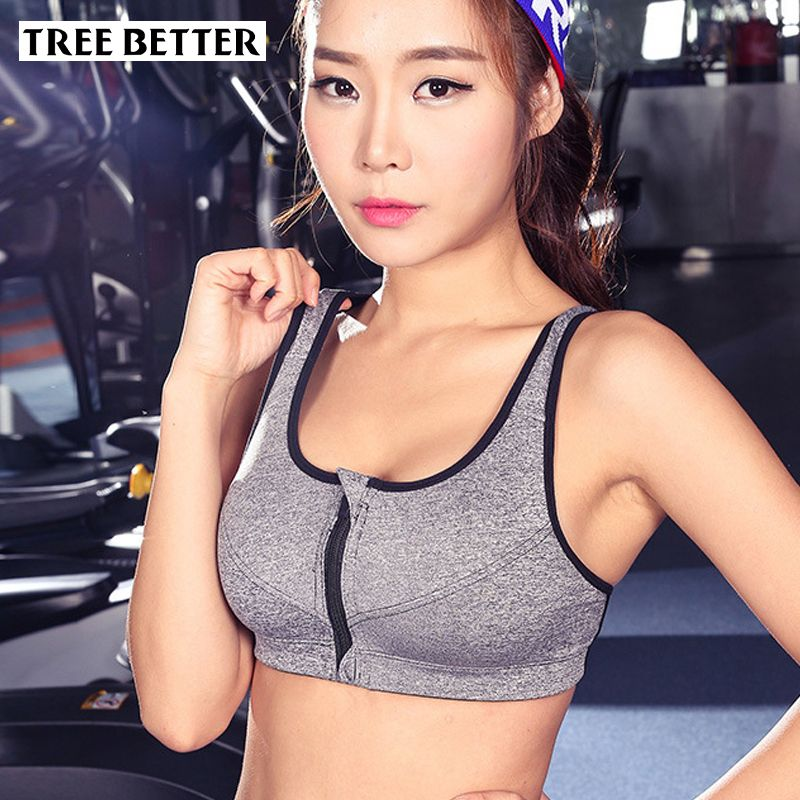 c44f427c2c Women Yoga Bra Breathable Sports Bra for Running Gym Fitness Athletic Bras  Padded Push Up Tank