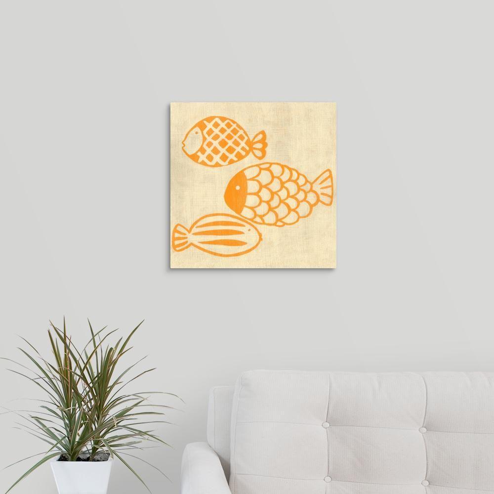 Best Friends - Fish\' by Chariklia Zarris Canvas Wall Art, Multi ...