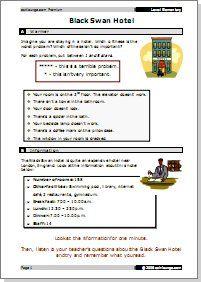 Free Sample Worksheet Black Swan Hotel Target Language