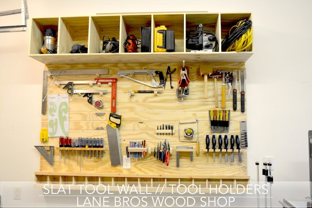 Slat Tool Wall // Tool Holders (John Heisz Design) - YouTube   Shop ...