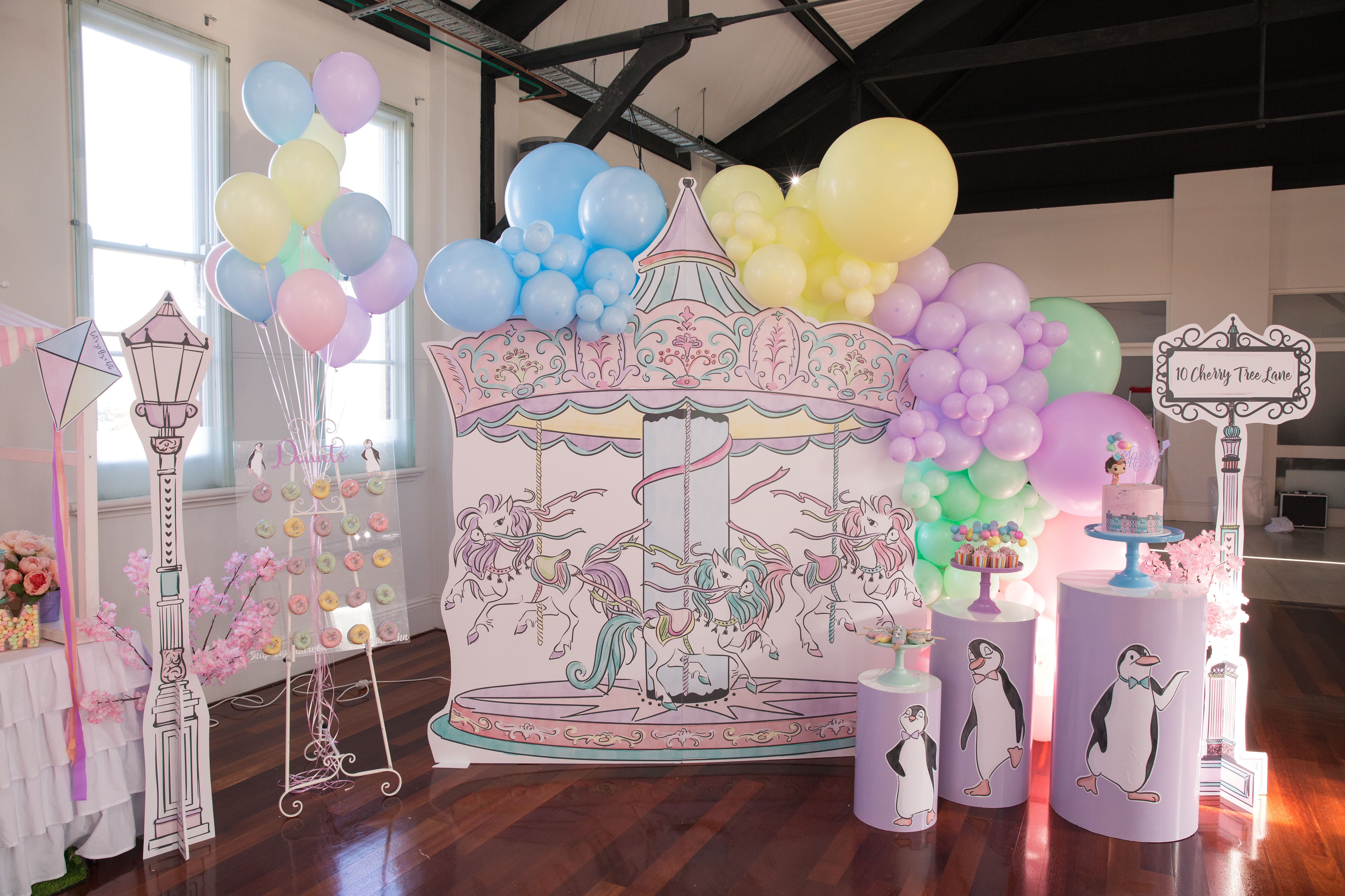 Event Styling, Desserts, Cake & Donut Wall by Cookie Queen