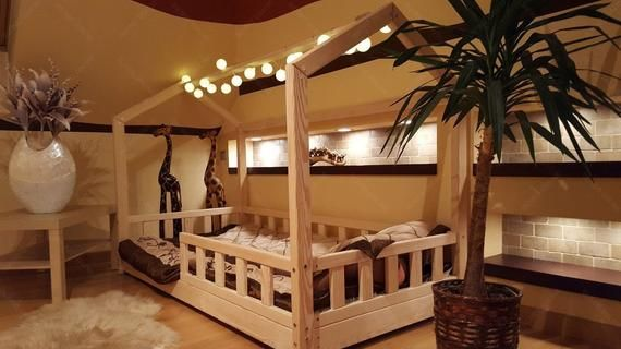 House Bed With Barriers Children Bed House Bed For Children Kids