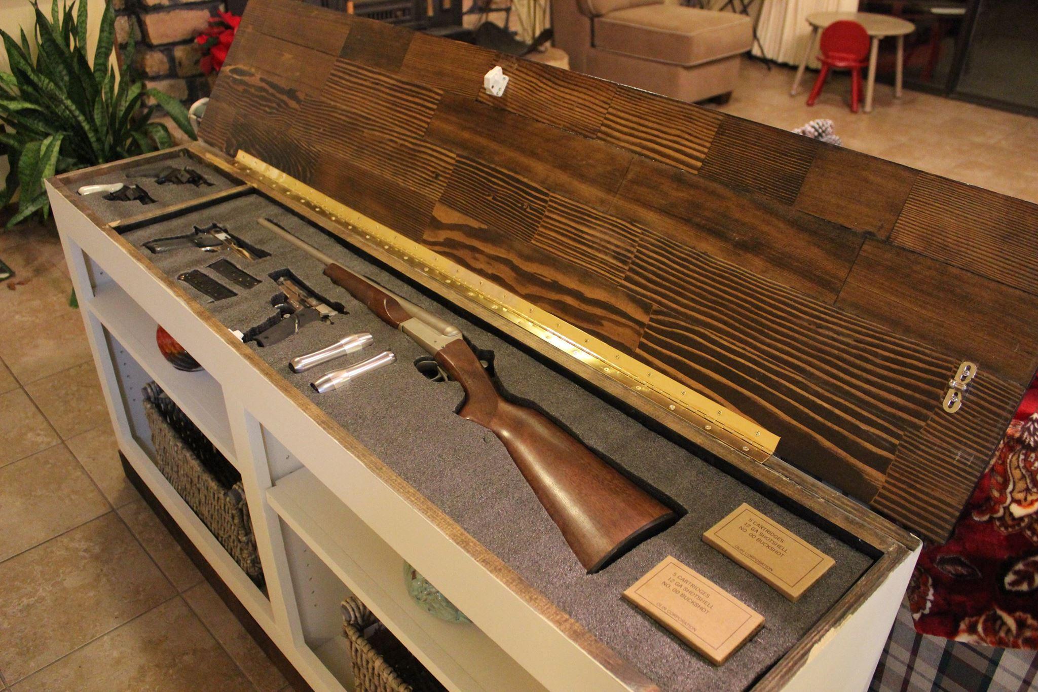 hidden gun storage furniture Guns & Ammo Pinterest