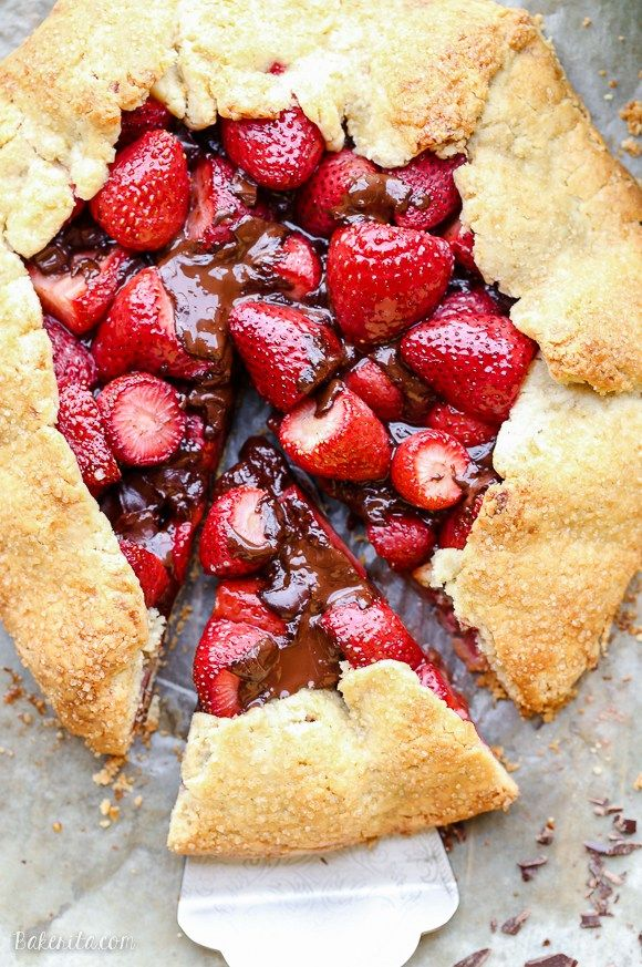 Chocolate Strawberry Galette Gluten Free Paleo Recipe