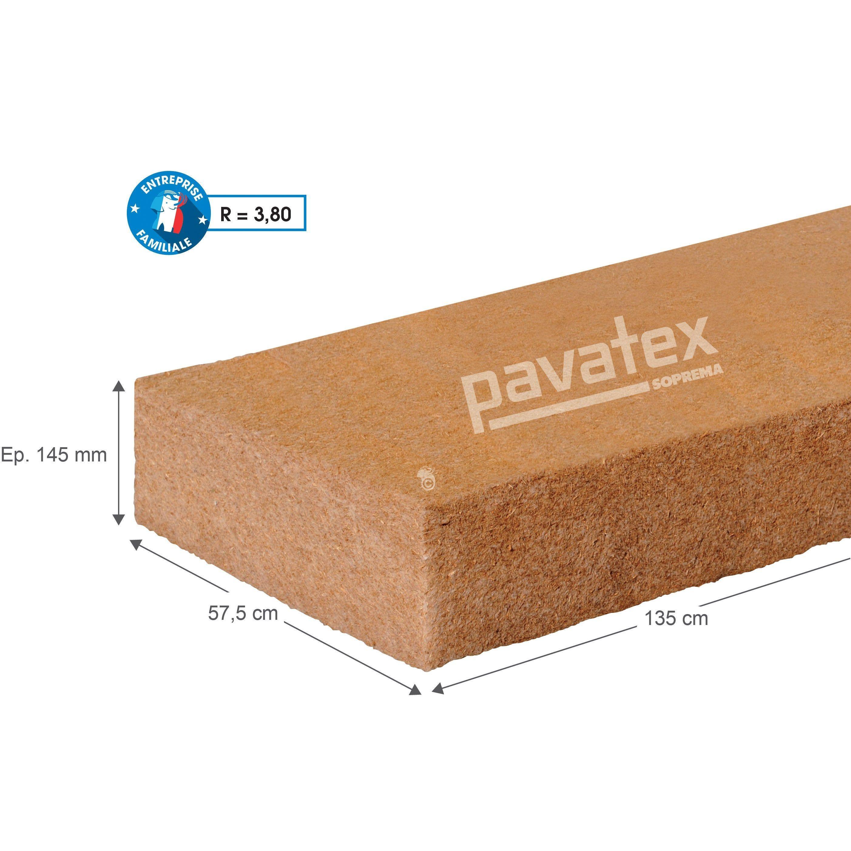 4 Panneaux Fibre De Bois Pavatex L 0 575 X L 1 22 M X Ep 145 Mm Panneau Fibre De Bois Fibre Et Bois