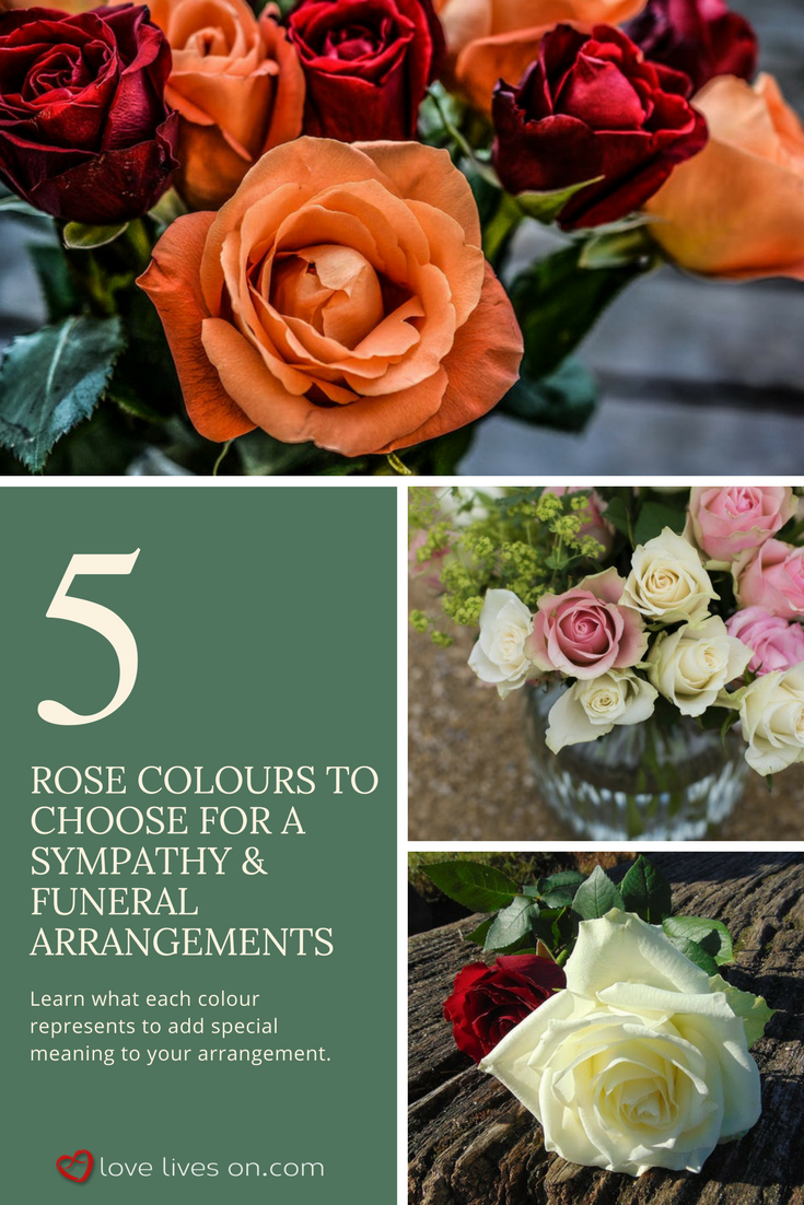 10 best funeral flowers funeral flowers funeral and funeral funeral flower meanings funeral flower arrangements click to learn the 5 different rose colours that would bring special meaning to a sympathy izmirmasajfo