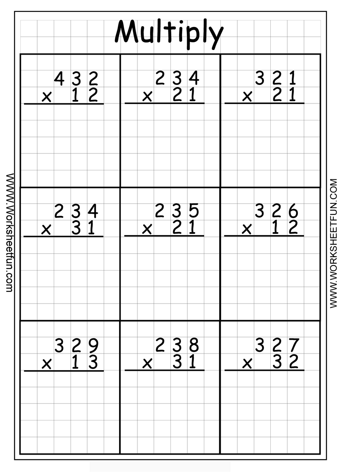 Hard Multiplication 2Digit Problems Multiplication 3