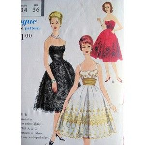 formal 1950s dresses