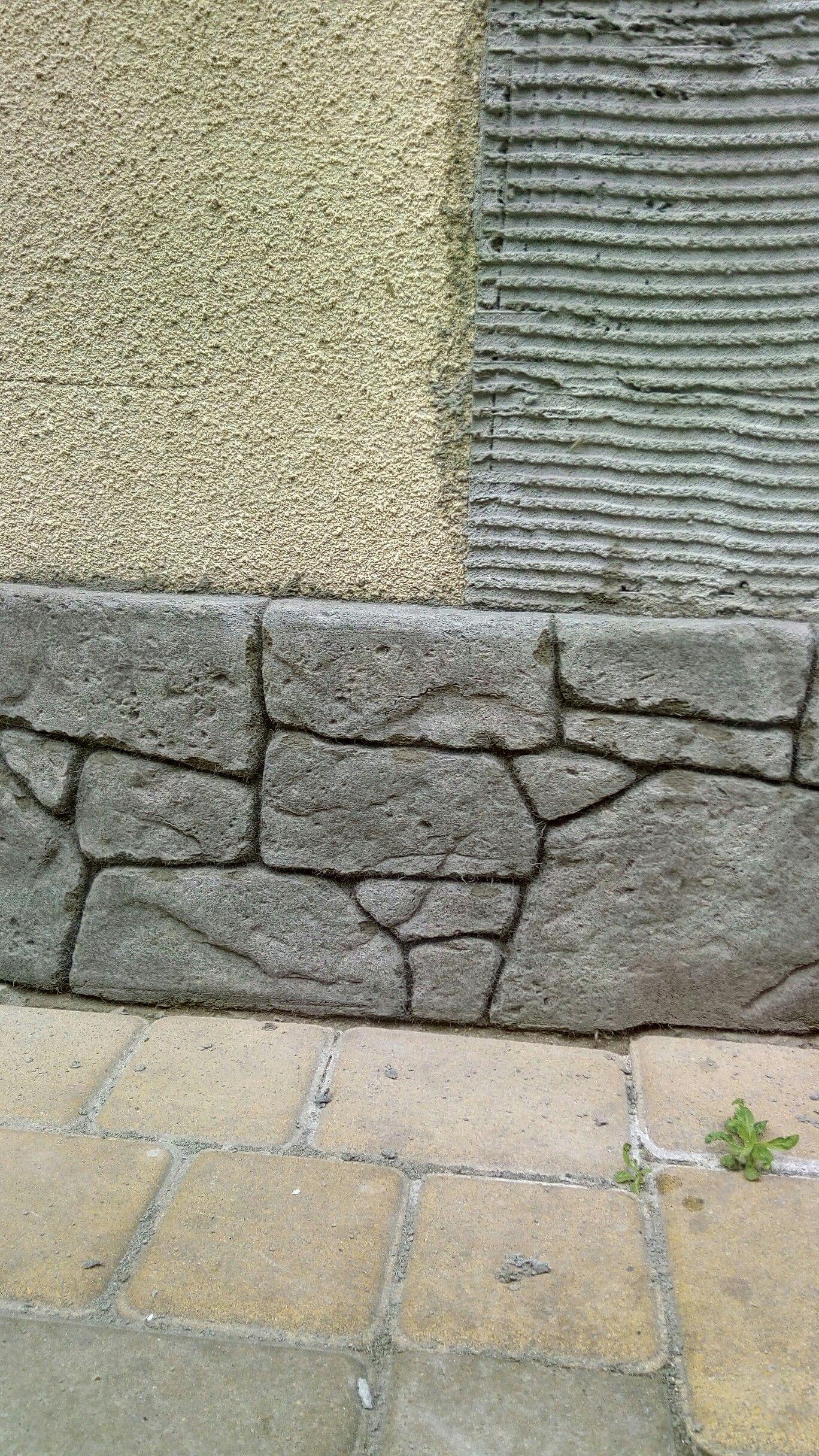 облицовка бетона камнем