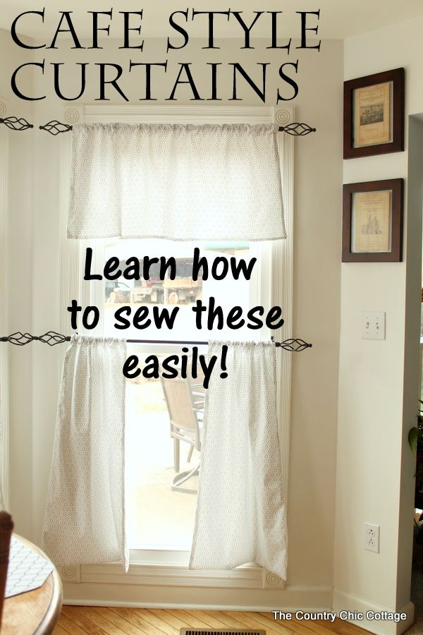 How To Sew Cafe Style Curtains Blue Kitchen Decor Farmhouse
