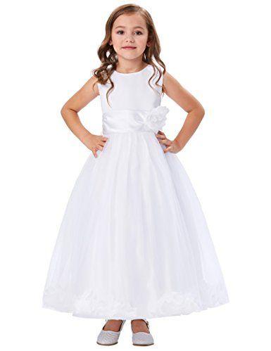 00363e04325 Girl s Flower High Waist Sleeveless Birthday Party Dresses Size 2-3 Years  CL8936-4
