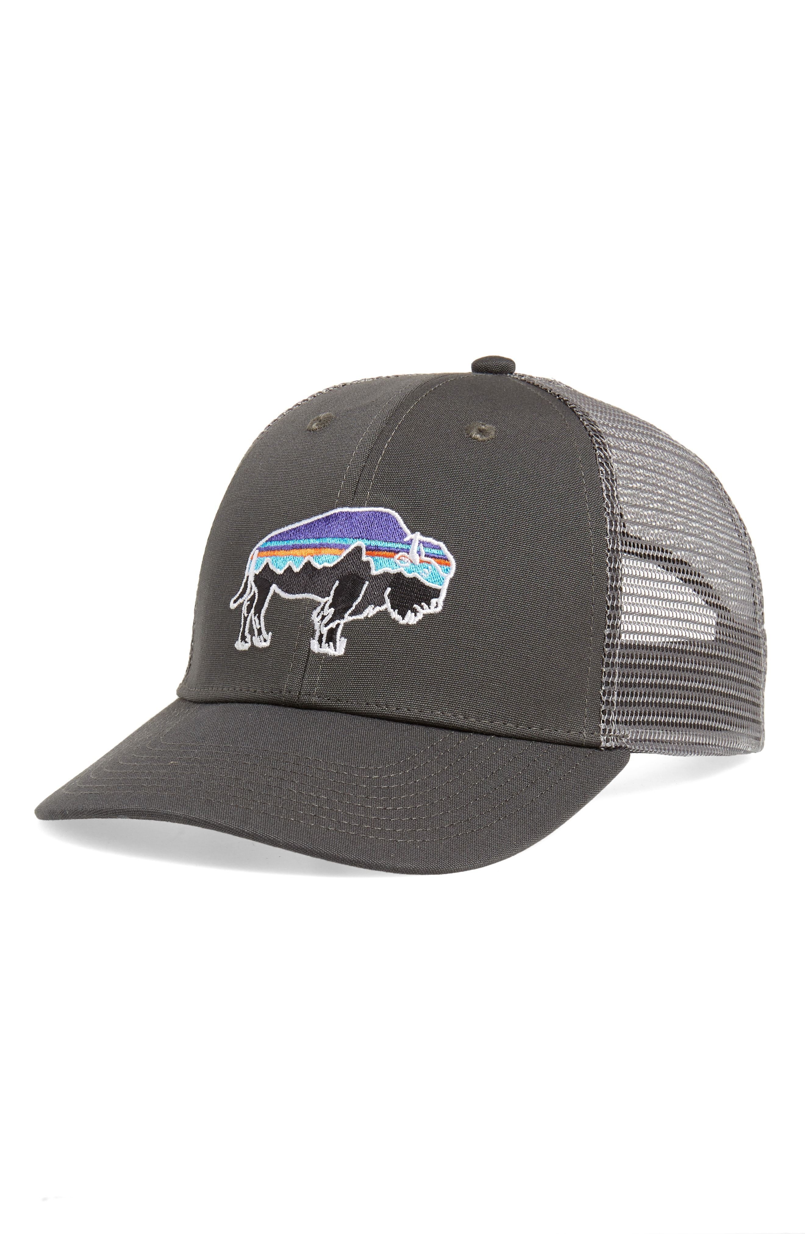 PATAGONIA  FITZ ROY - BISON  TRUCKER HAT - GREY.  patagonia ... ce61a01d07a0
