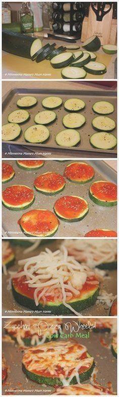 Zucchini Pizza Wheels! Low Carb Mahlzeit, die unglaublich schmeckt! #abendessen #fitness #fitnessabe...