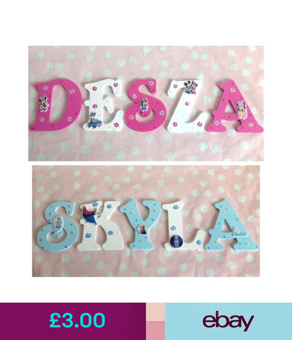 Personalised Girls Name Wooden Letter Door Wall Plaque Any Disney Frozen Theme Wooden Letters Wall Plaques Frozen Theme