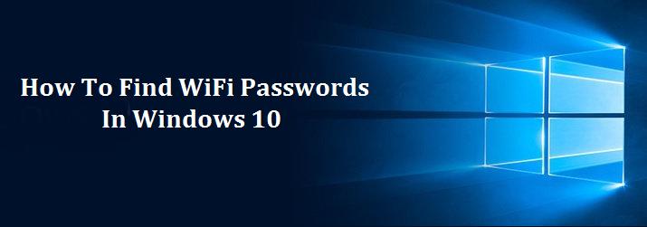 how to get my wifi password off windows 10