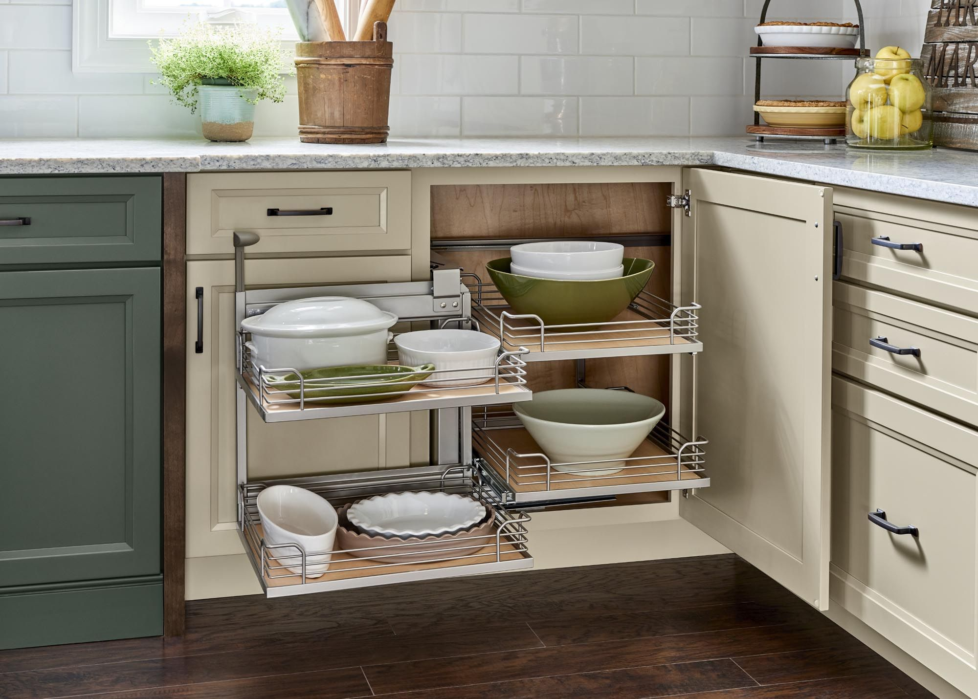 Yorktowne Cabinetry Corner Base Cabinet Pull Out In 2020 Corner Base Cabinet Kitchen Remodel Interior Design Kitchen