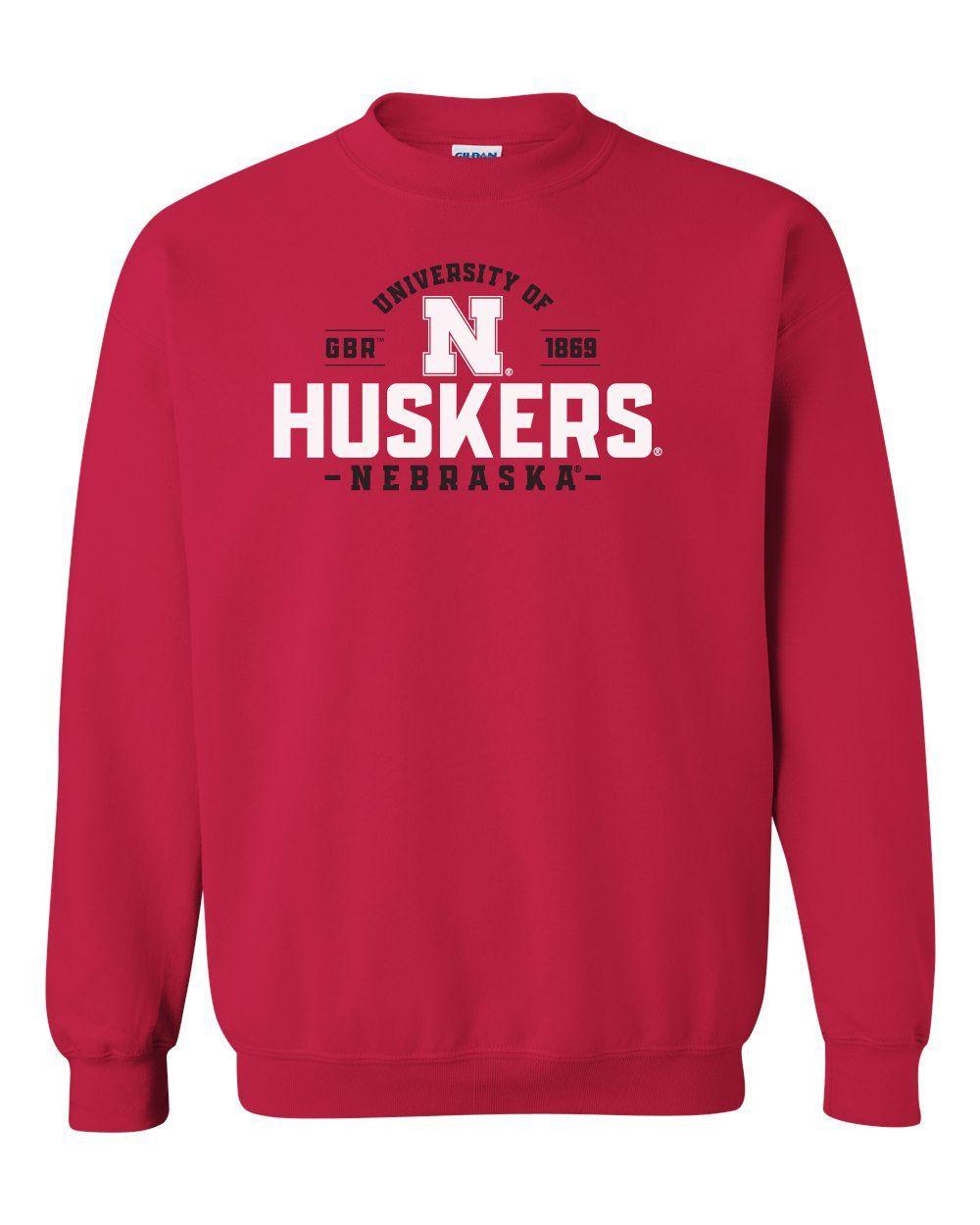 Nebraska Huskers Crewneck Sweatshirt University Of Nebraska Huskers N In 2021 Nebraska Huskers Crew Neck Sweatshirt Husker [ 1250 x 1000 Pixel ]