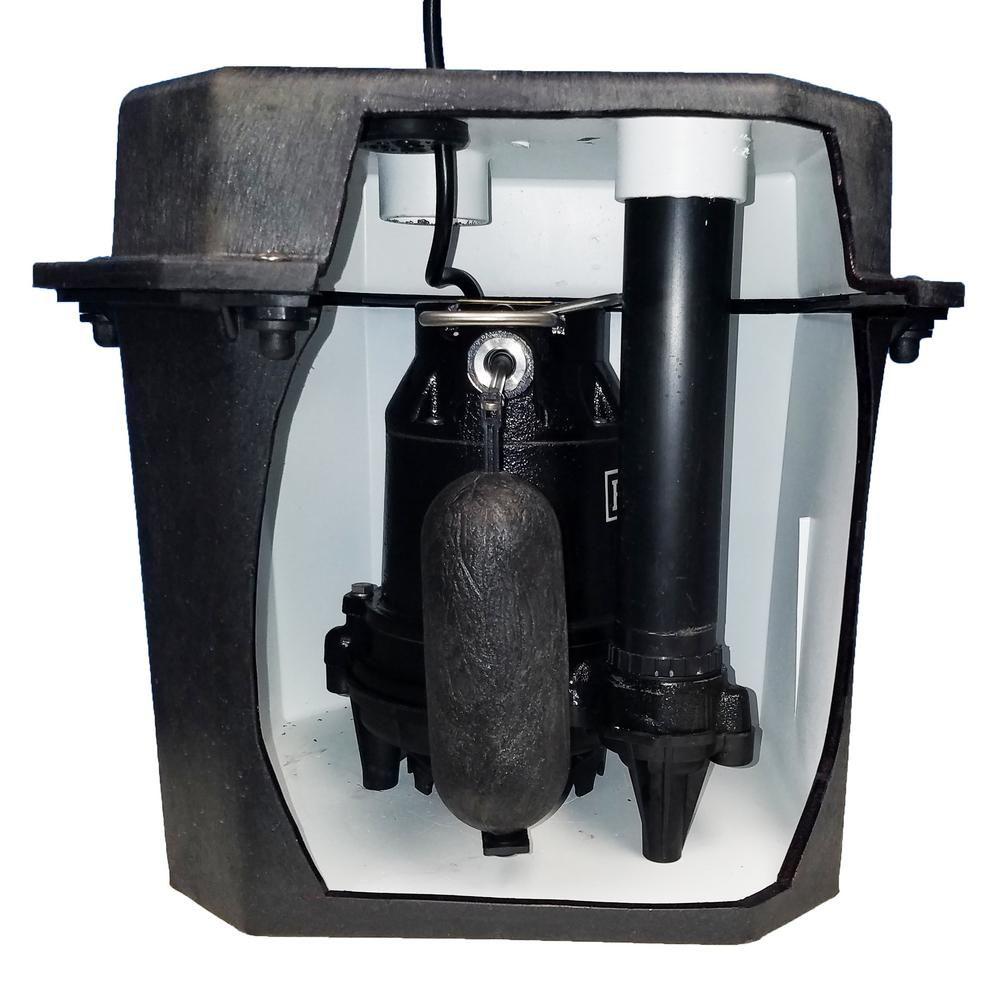 Everbilt 1 3 Hp Heavy Duty Laundry Sink Tray System Plumbing