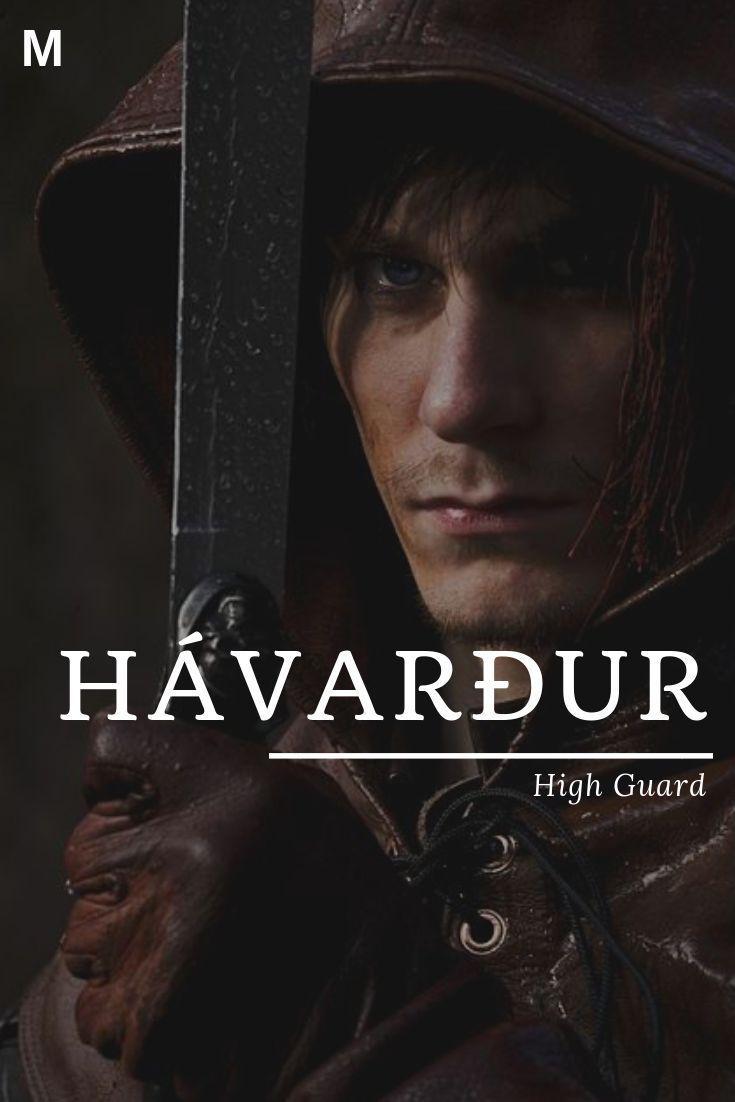 Havardur, was bedeutet, High Guard, isländische Namen, H Jungennamen, H Babynam...