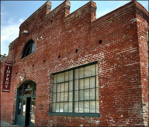 Another view of the Ventura Improv Theatre, Stacked Bricks, By ...-Wink-...