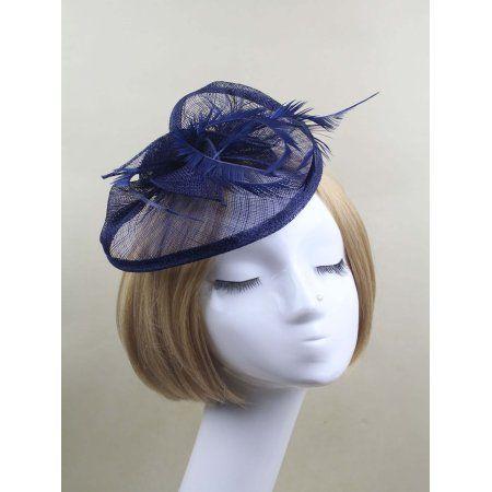 Coxeer Elegant Fascinator Hair Dress Net Flower Pillbox Hat Church Hat  Masquerade Wedding Party Hair Accessories for Women Ladies Bridal - Walmart .com 70fdb707f95