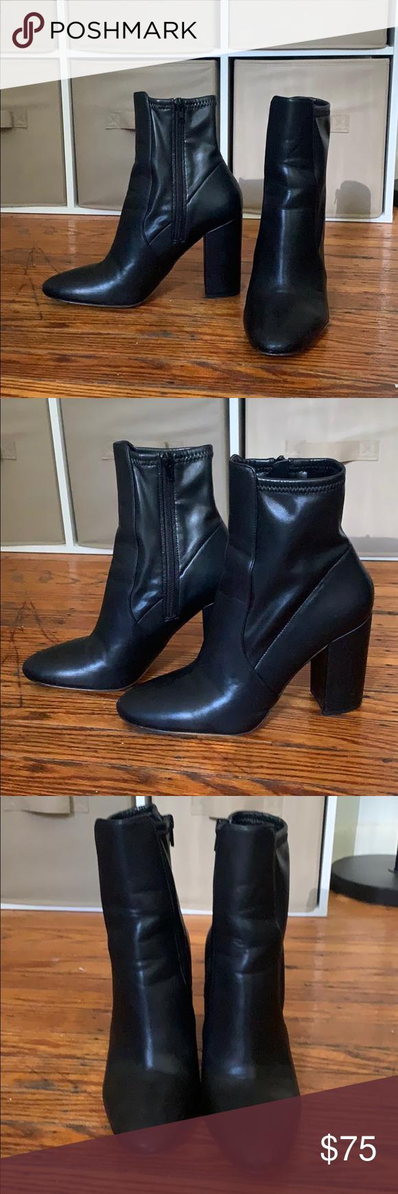aldo chunky heel booties