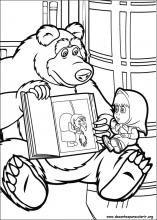Desenhos Do Masha E O Urso Para Colorir Com Imagens Paginas