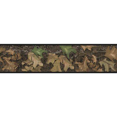 August Grove Camo Botanical Border Wallpaper Camo