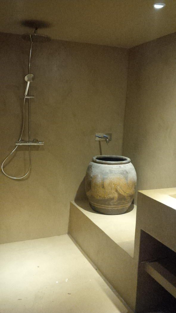 douche à l'italienne béton ciré revêtement étanche marius