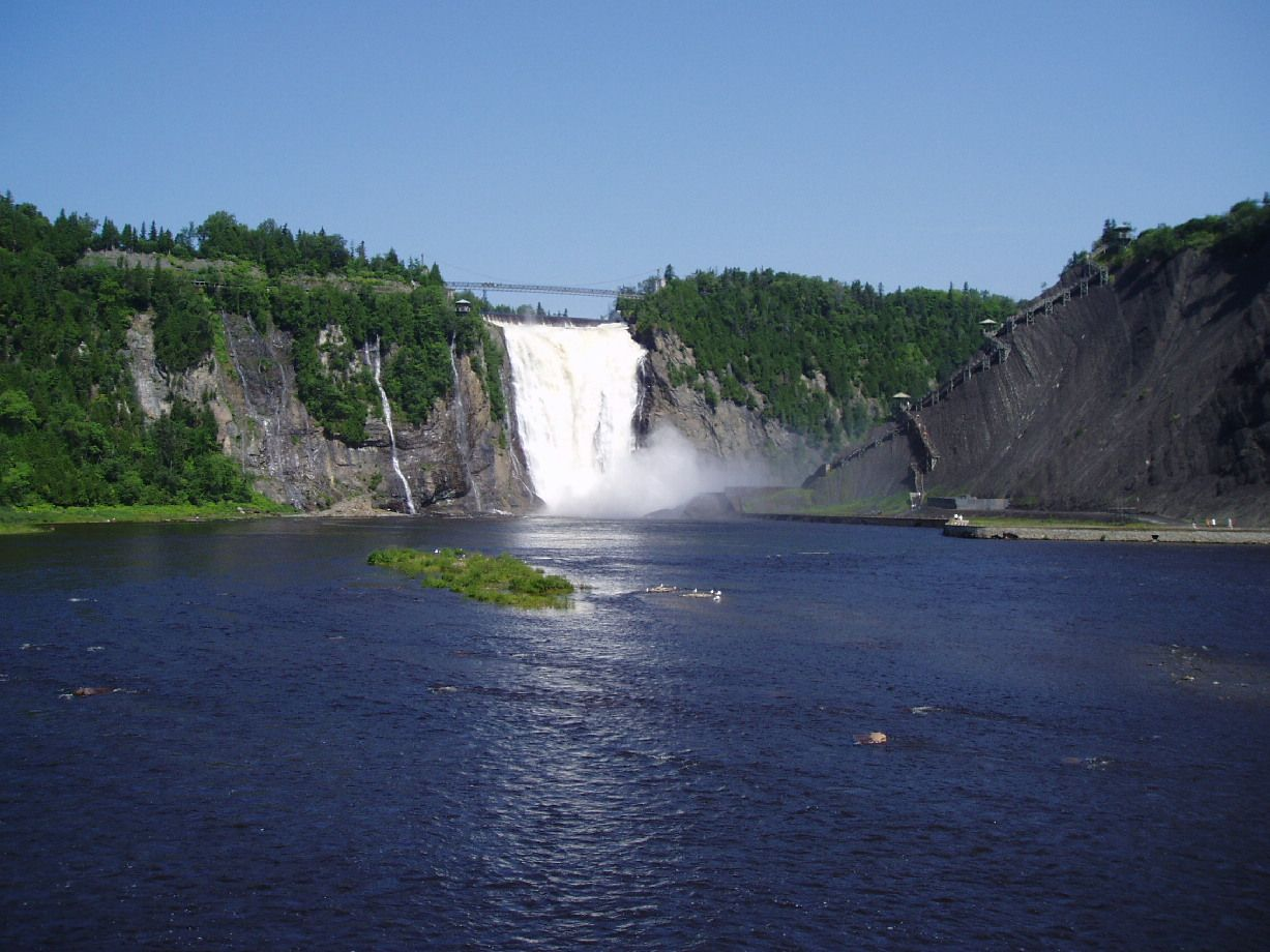 Montmorency River and Falls (With images) Canada road