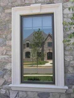 Molduras de cantera en ventanas buscar con google for Molduras para decorar puertas